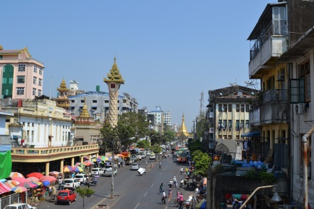 1st day in Myanmar. Walking the streets of Yangon ::: Prvy den v Myanmare. Prechadzky ulicami Yangonu