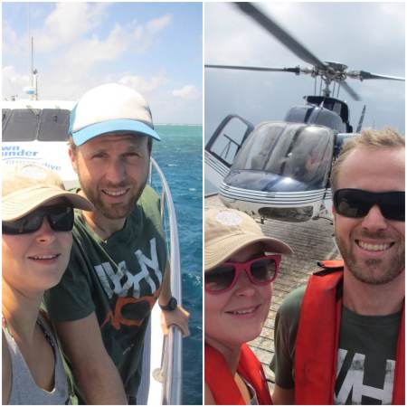 Today was a big day: we went diving at the Great Barrier Reef and then flew 300m above it in a helicopter! ::: Dnes bol velky den: potapanie na Velkom Barierovom Utese a potom 300m let nad nim v helikoptere!