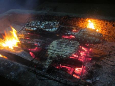 Today dinner for four. On Gili Air island we met with Veronika and Paja from Czech Rep ::: Dnes vecera pre styroch. Na ostrove Gili Air sme sa stretli s Veronikou a Pajou z Ceska