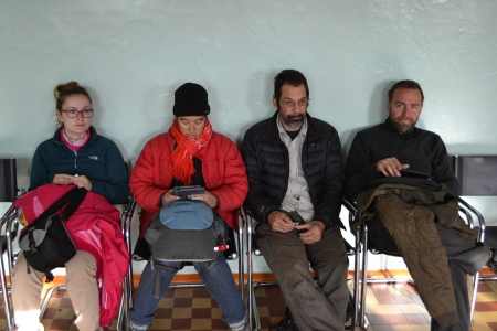 We are actually quite sad when we have to wait for shower. Like here in the Gobi.