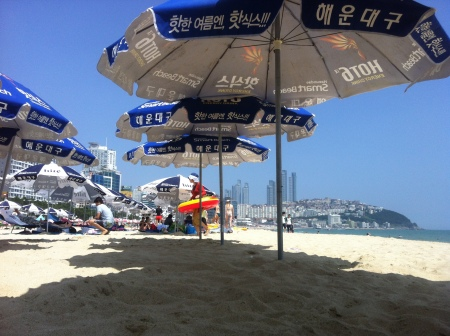 Korea's most popular beach: Haeundae beach ::: Najoblubenejsia plaz v Korei: plaz Haeunda