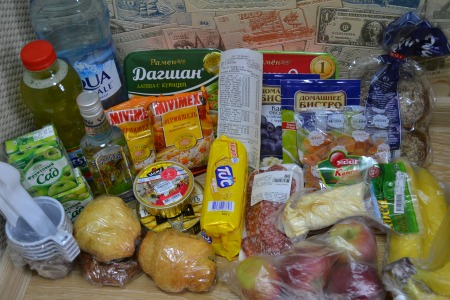 Our 34 hrs train ride food survival pack ::: Potravinovy balicek na nasu 34 hodinovu cestu vlakom