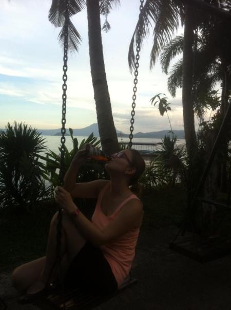 Hello po! San Miguel at lake Taal ::: Ahoj po! San Miguel pivko pri jazere Taal