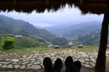Banaue viewpoint after 5 km up the hill