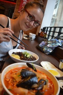 Our first meal in Seoul, turns out to be Chinese