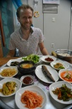 Salted mackrel and side dishes