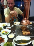 BBQ pork and all the side dishes