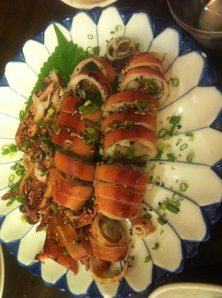 Squid served with all the intestines